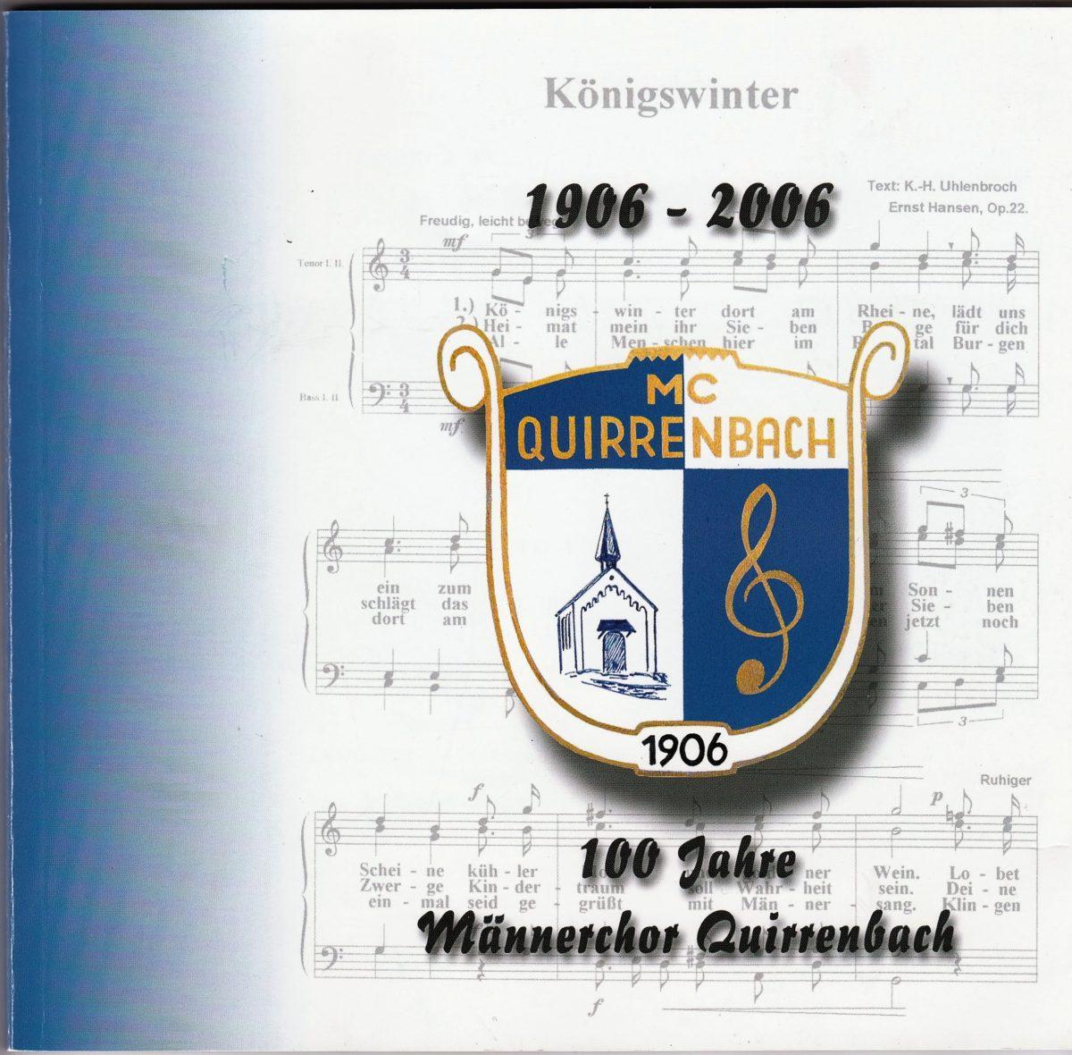 Festschrift zum 100. Jubiläum des MC Quirrenbach