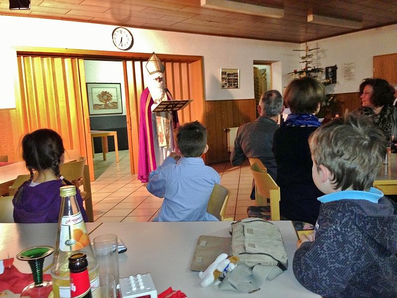 St. Nikolaus besuchte die Sängerfamilie