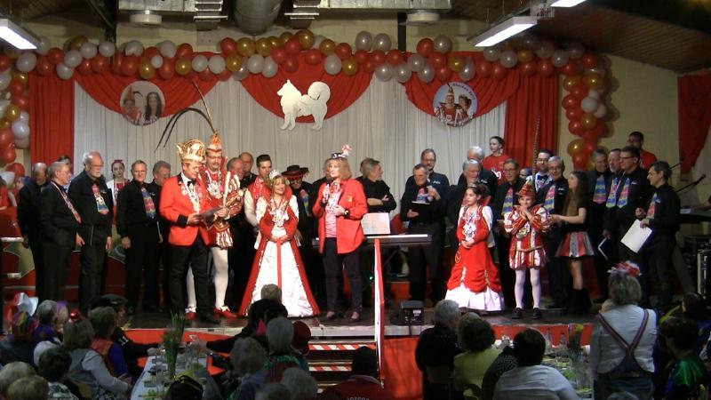 Männerchor als Höhepunkt beim Seniorenkarneval