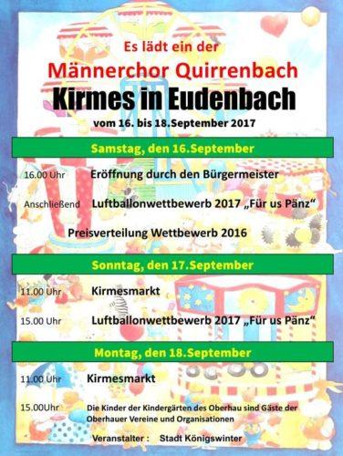 Der MCQ richtet erstmals Eudenbacher Kirmes aus