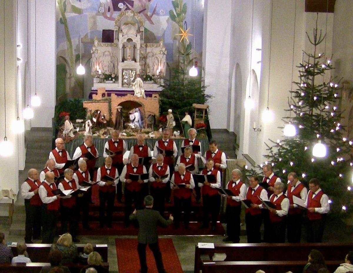 Zum 33. Mal sang der MC in der Christmette in Eudenbach