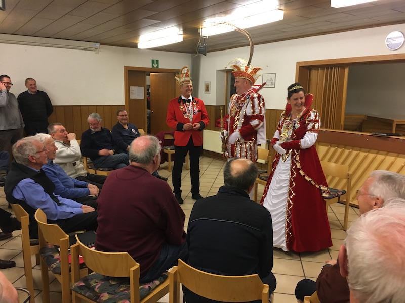 Prinzenpaar Detti I. und Lydia I. zu Besuch bei MC – Chorprobe